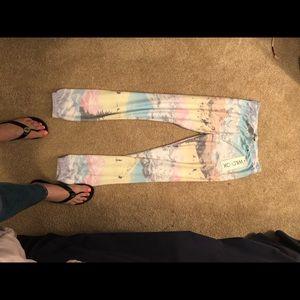 NWT Wildfox Ski Apres Multi Color Sweatpants XS